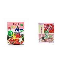 [2点セット] 天領食品 野菜だけのカレー 【甘口】 (1食分)・梅抹茶[小](12袋)