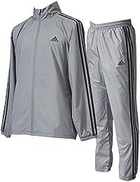 アディダス(adidas) M ESSENTIALS 3S ウインドブレーカージャケット&パンツ (裏起毛) 上下セット(グレースリーF17) DUV75-CF5584-DUV70-CG1457