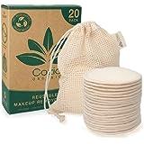 20x Reusable Makeup Remover Pads - Reusable Cotton Pads - Pad Makeup Wipe Reusable - Zero-Waste, Natural & Organic Face Wipes
