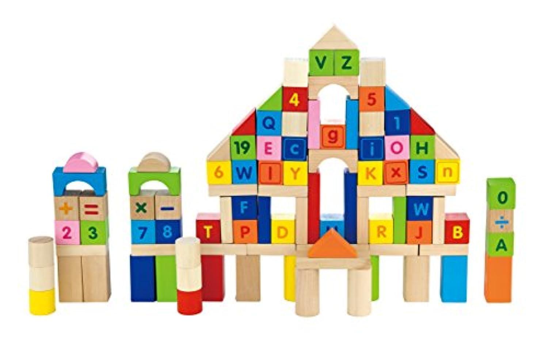 スモールワールドToys Ryan 'sルーム木製Toys – 文字と番号ブロック100 pc。セット