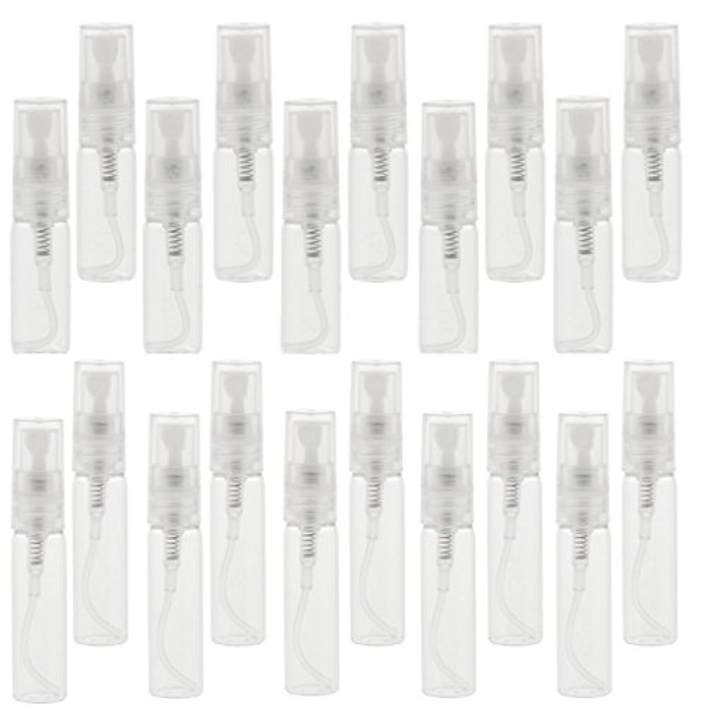 調整する肥沃なディスクポンプボトル スプレーボトル 香水ボトル ガラスボトル 空ボトル 詰め替え可能 3&5ml 20個