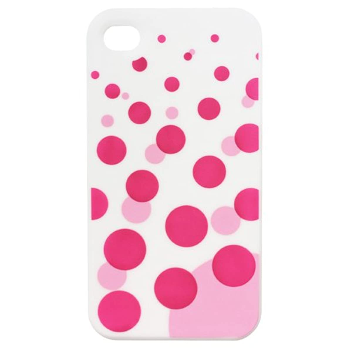回転するコンクリート大事にするTMY iPhone4/4S用カバー カラーコレクション ソーダドット ホワイト CV-01WH