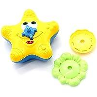 KINGZUO 子供 ヒトデの形 電子おもちゃ 水浴のおもちゃ 回転でき お風呂 楽しい  贈り物 - イエロー フローティング