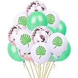ZONGLIAN 風船 バルーン 15個12 '紙吹雪風船結婚式ハワイアンパーティー装飾用品 風船 誕生日 結婚式 卒業生 記念日 お祝い 二次会 子供会 文化祭 母の日