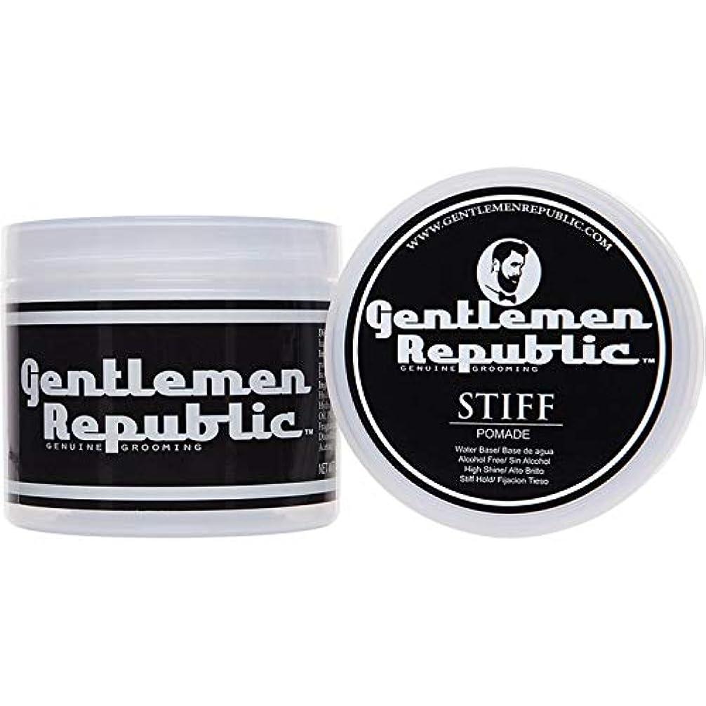 ペネロペおびえたトリッキーGentlemen Republic Stiff Pomade (4oz) by Gentlemen Republic