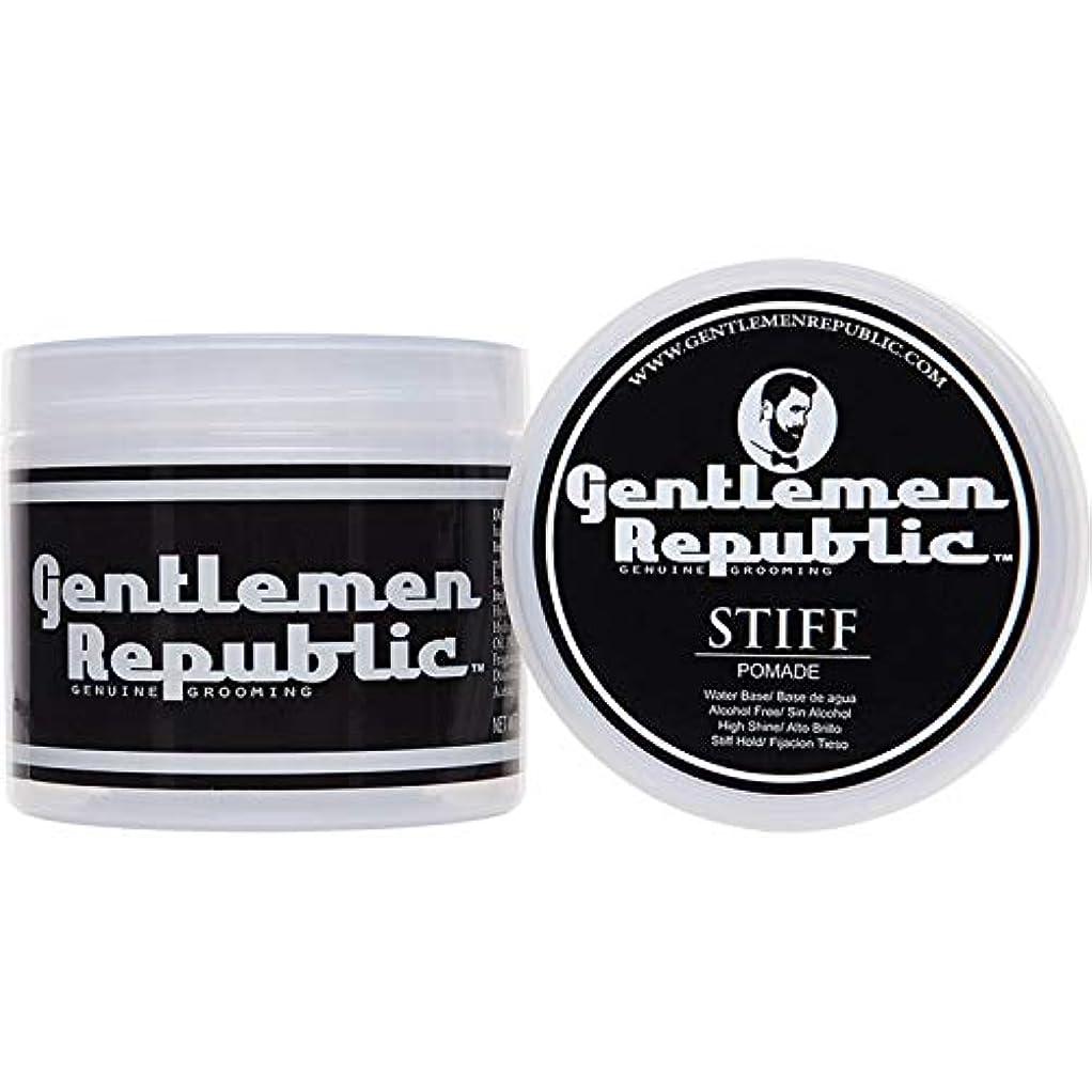 残基十億ステップGentlemen Republic Stiff Pomade (4oz) by Gentlemen Republic