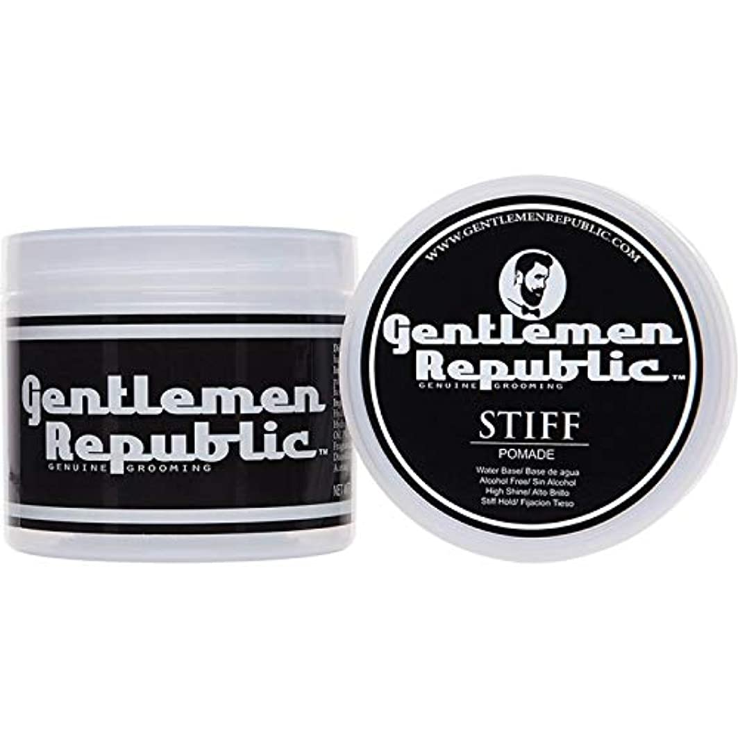 疎外するリマーク倍増Gentlemen Republic Stiff Pomade (4oz) by Gentlemen Republic