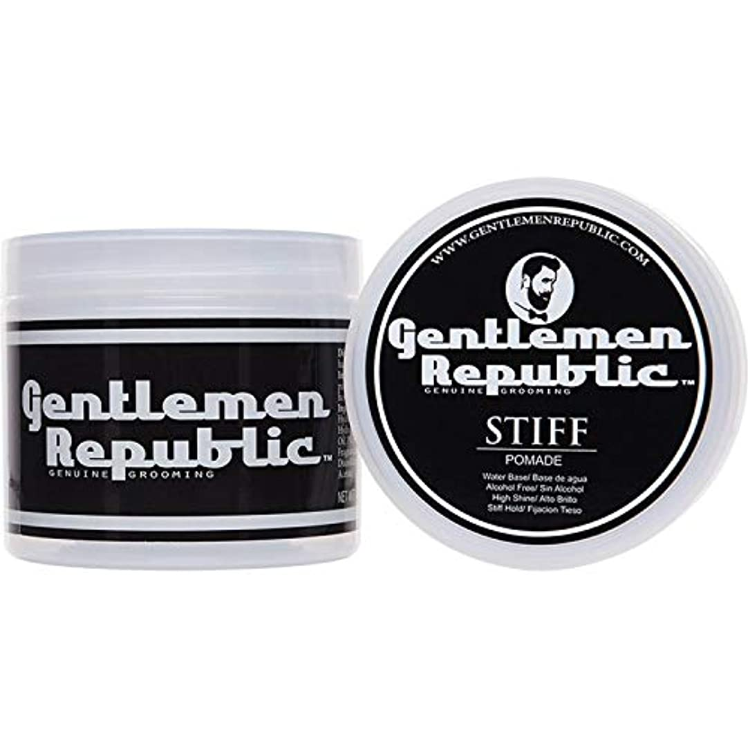 見る異形バブルGentlemen Republic Stiff Pomade (4oz) by Gentlemen Republic