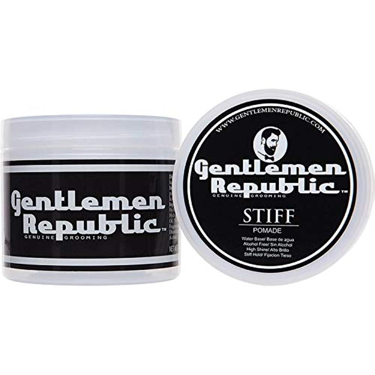 精査スライス雪Gentlemen Republic Stiff Pomade (4oz) by Gentlemen Republic