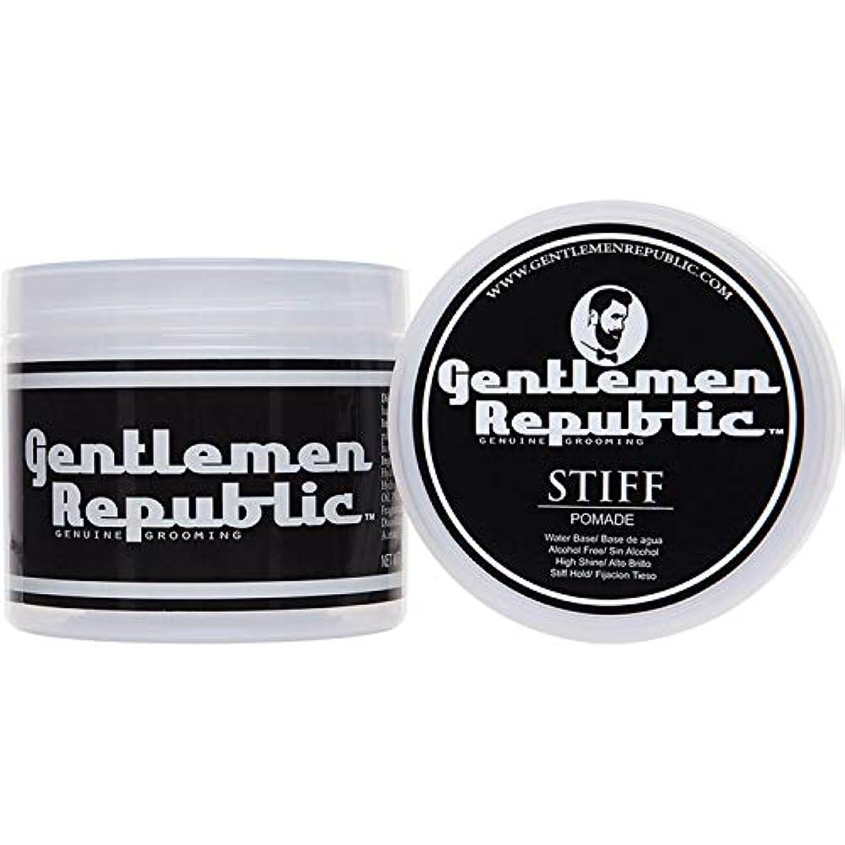 干ばつオプション対応Gentlemen Republic Stiff Pomade (4oz) by Gentlemen Republic