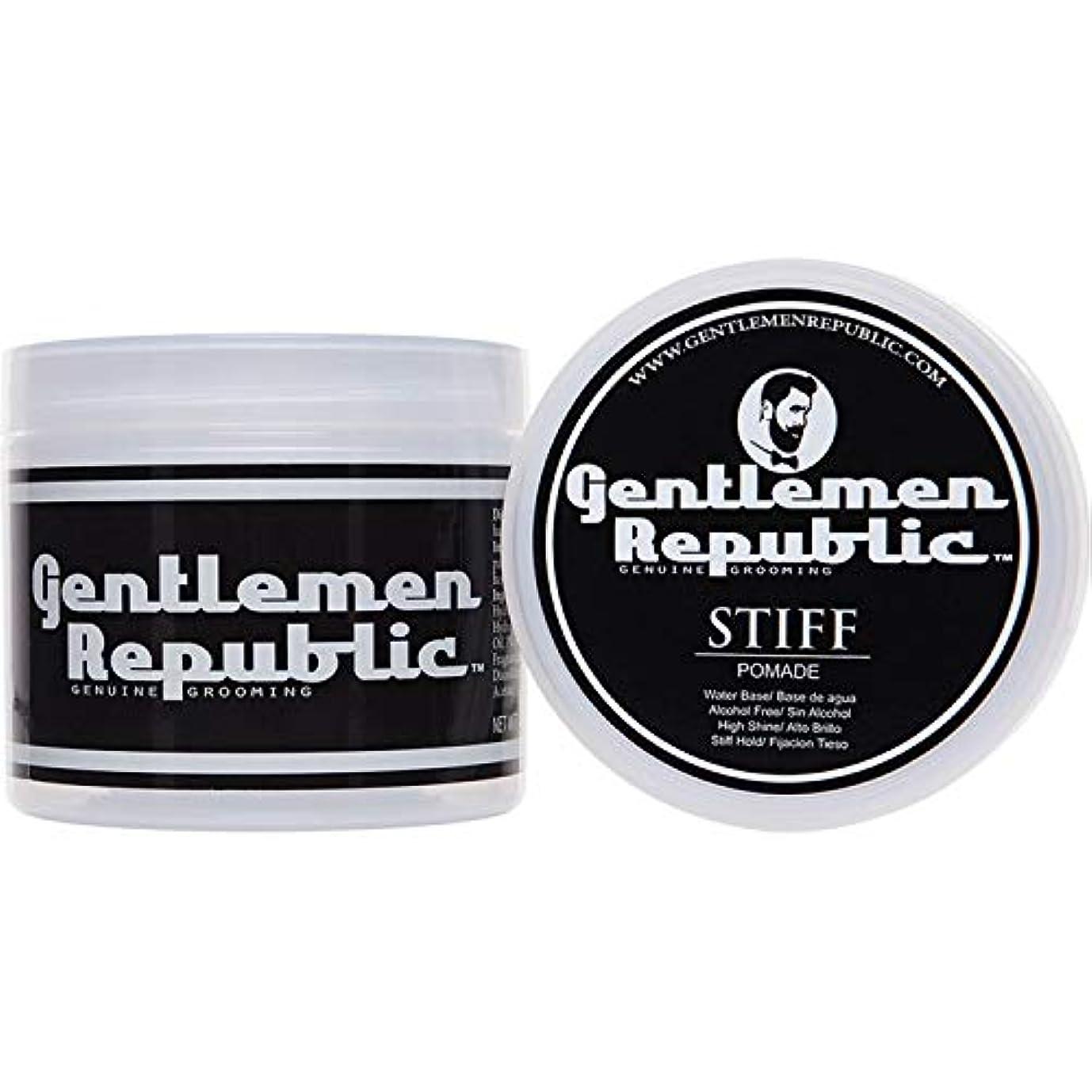 シプリージョイント磁器Gentlemen Republic Stiff Pomade (4oz) by Gentlemen Republic