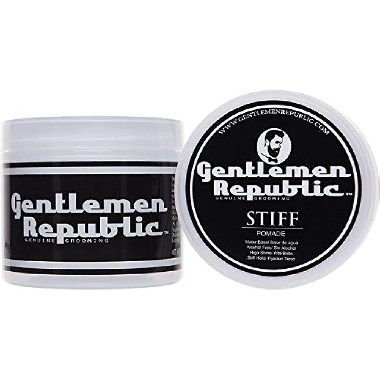 扇動エイリアス清めるGentlemen Republic Stiff Pomade (4oz) by Gentlemen Republic