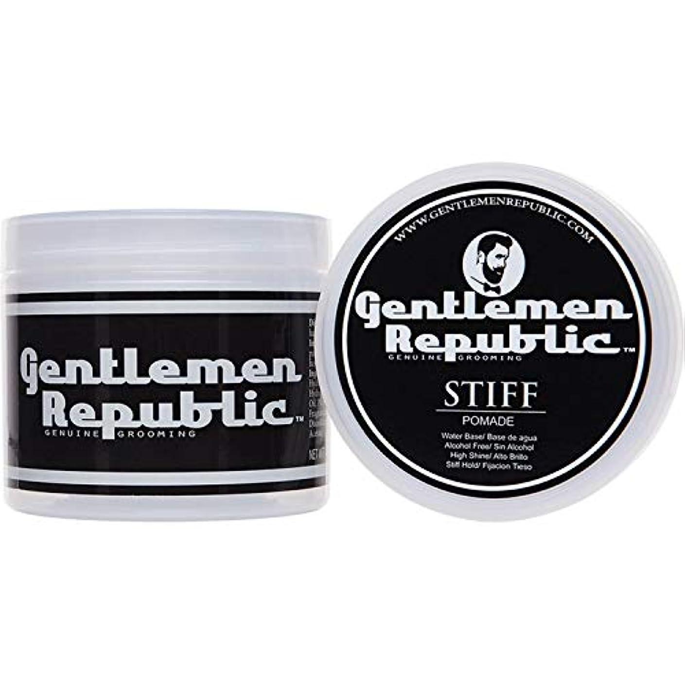 自分の勇者フェードアウトGentlemen Republic Stiff Pomade (4oz) by Gentlemen Republic