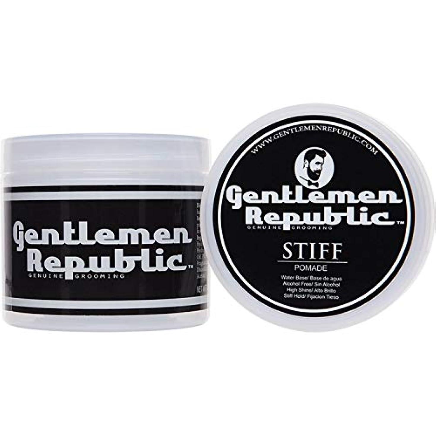 モルヒネ永続複雑Gentlemen Republic Stiff Pomade (4oz) by Gentlemen Republic