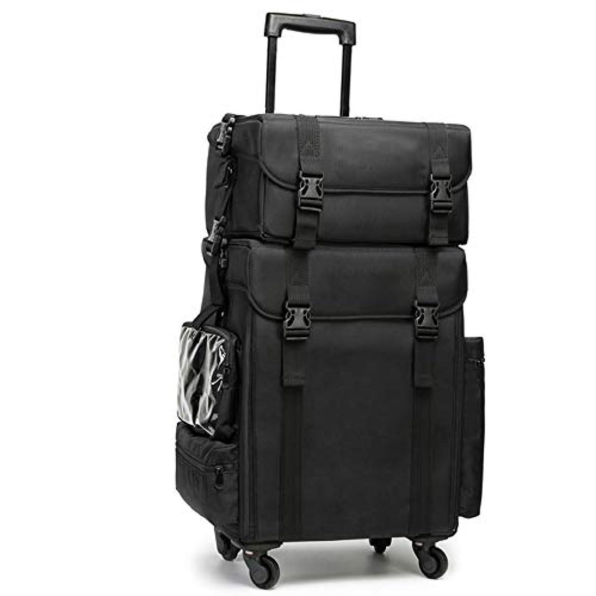 兄ベール立方体GOGOS メイクボックス 大容量 プロ仕様 コスメボックス スーツケース型 化粧品収納ボックス 美容師 アーティスト バッグ ケース 4輪 キャスター付き 防水 出張 携帯 便利