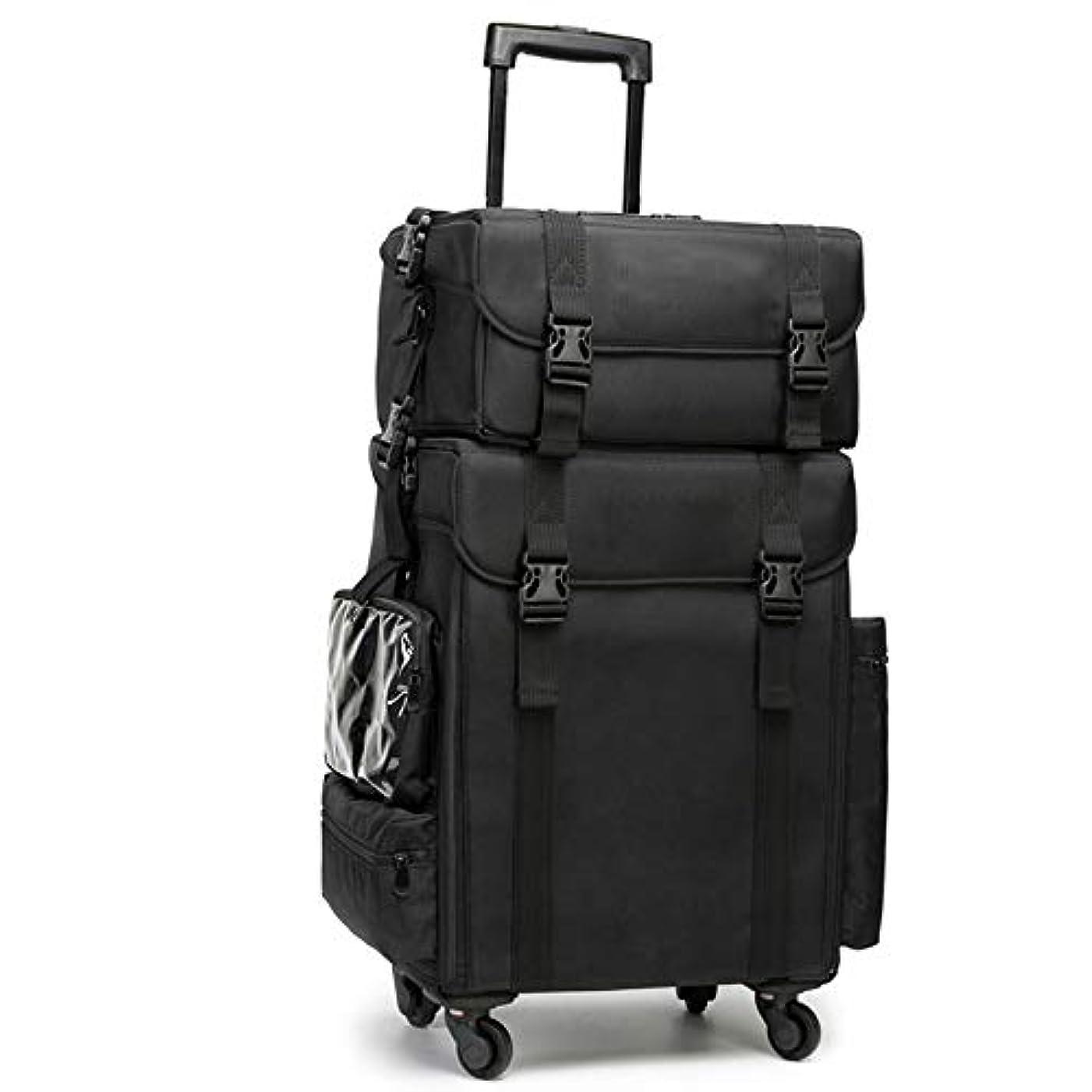 私たちアスリート修正GOGOS メイクボックス 大容量 プロ仕様 コスメボックス スーツケース型 化粧品収納ボックス 美容師 アーティスト バッグ ケース 4輪 キャスター付き 防水 出張 携帯 便利