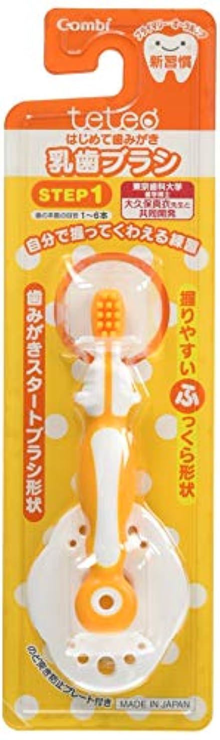 十分指定するアパート【日本製】コンビ Combi テテオ teteo はじめて歯みがき 乳歯ブラシ STEP1 (歯の本数の目安:1~6本) 最初の歯が生えはじめたら