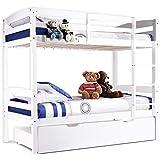 New Bunk Beds Single Frame Solid Pine Children Wooden Bed Kids Bedroom Furniture