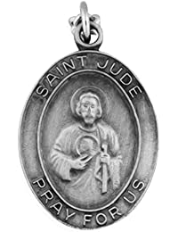 Venerare Oval Pewter Saint Medal with Holy Card