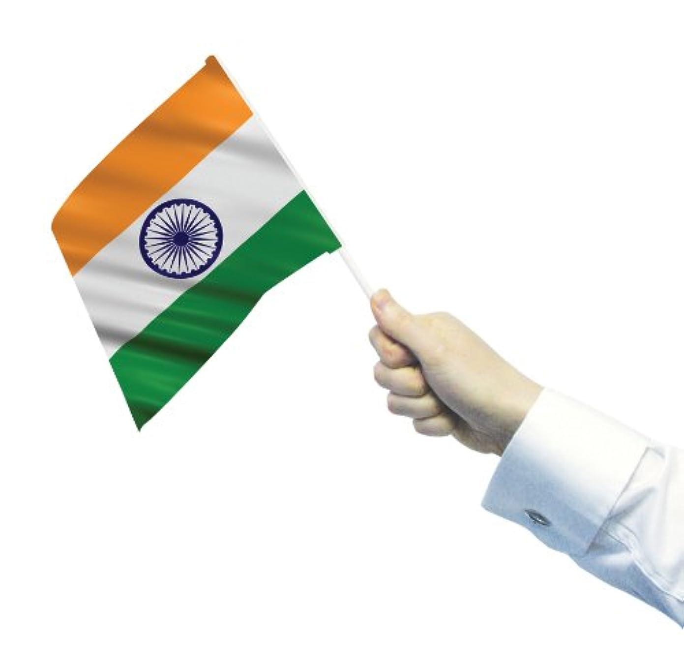 シャープアセ花弁India - 12 Waving/hand Flags On Sticks