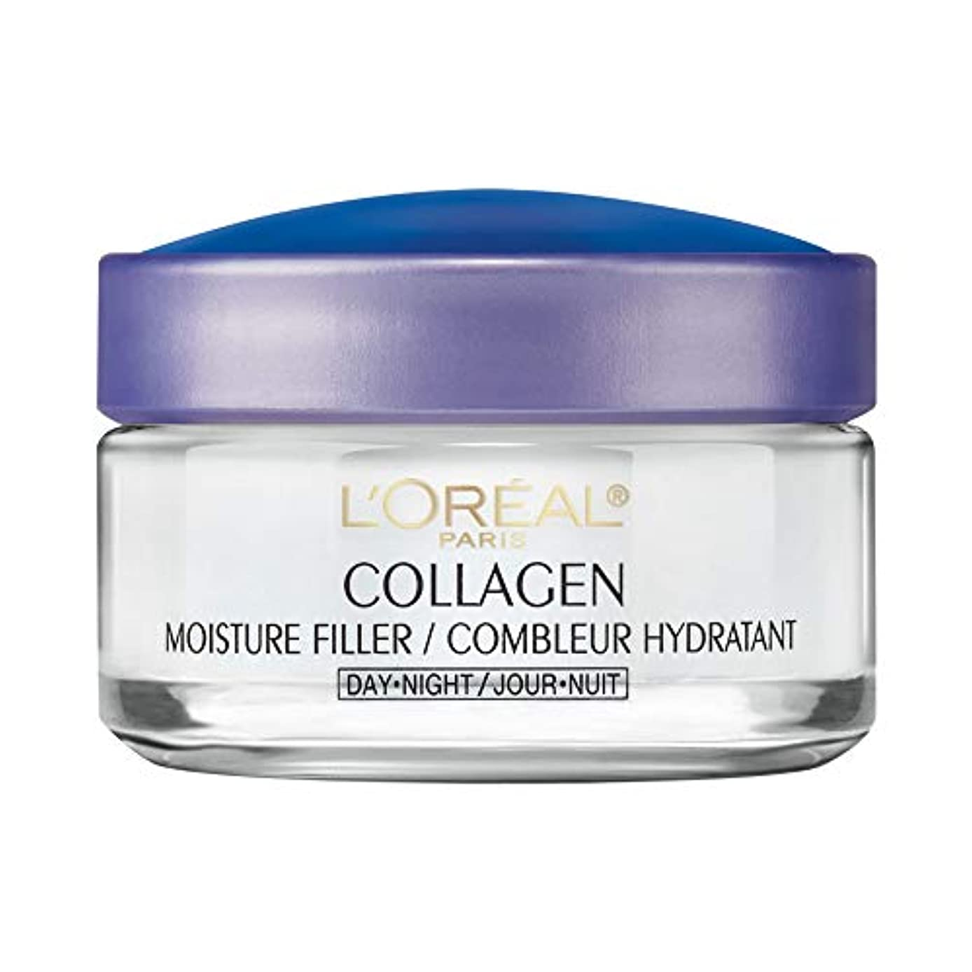 一回霧深い茎L'Oreal ロレアルパリ天然コラーゲンモイスチャー昼 夜用クリーム 48g  並行輸入品