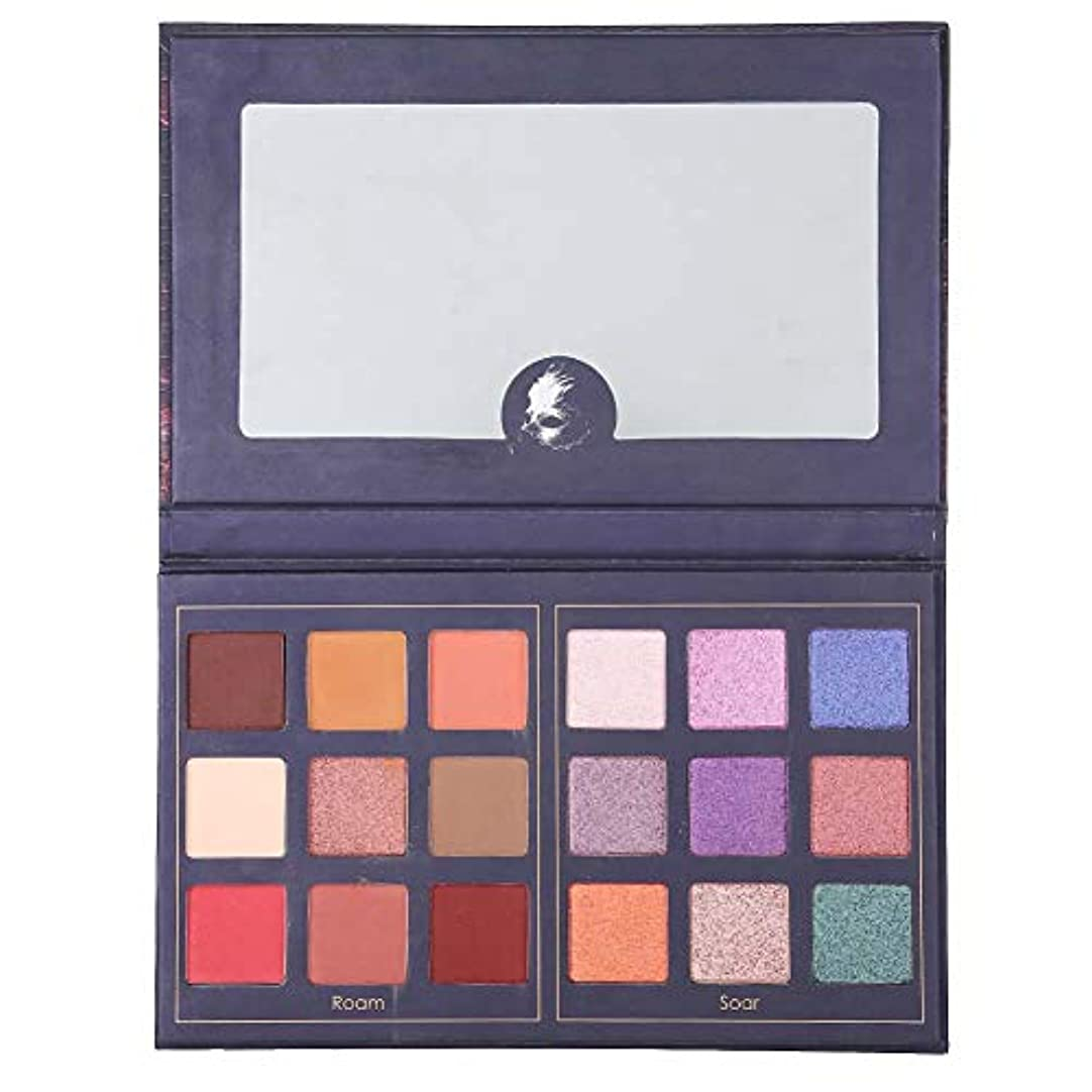 合金格納バリケードアイシャドウパレットグリッター 18色 美しい 化粧品アイシャドウ化粧パウダー