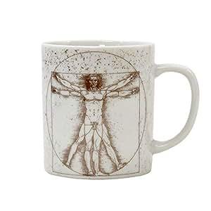 [月刊ムー] マグカップ ウィトルウィウス的人体図 AKRMU008