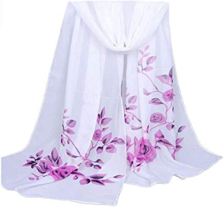 fenging3 スカーフ マフラー、ファッション女性ロングソフトラップスカーフ マフラーレディースショールシフォンビーチ