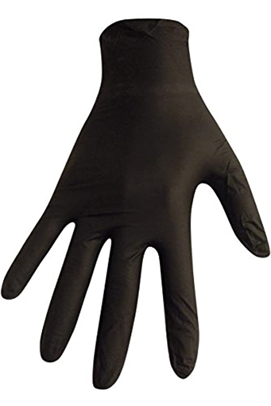 重荷かすかな計算可能【箱なし発送】ニトリル極薄手袋 S?M?L 選べる4色(50枚入) (S, ブラック)