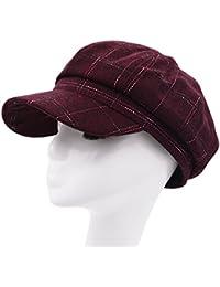 Meifan女性冬帽子、英国スタイルウールベレー帽Duckbill Cap Newsboy Hatキャップ