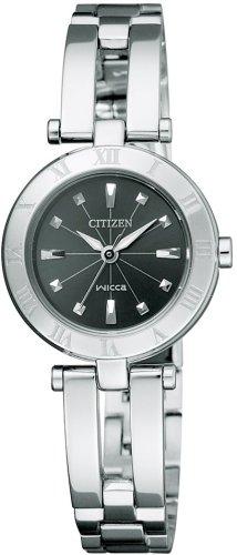 [シチズン]CITIZEN 腕時計 wicca ウィッカ Eco-Drive エコ・ドライブ ハーフバングル  シンプルアジャスト NA15-1571 レディース
