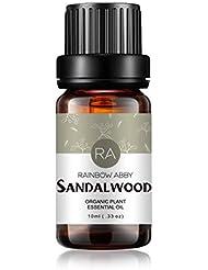 RAINBOW ABBY サンダルウッドエッセンシャル オイル ディフューザー アロマ セラピー オイル 100% ピュアオーガニック 植物 エキスサンダルウッド オイル 10ML/0.33oz
