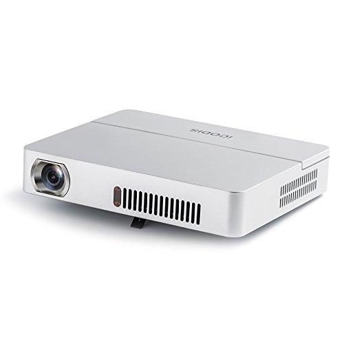 プロジェクター 小型 3000ルーメン ネイティブHD解像度 10000:1のコントラスト比 10000mAhバッテリー内蔵 ポータブルピコプロジェクター iCODIS RD-813
