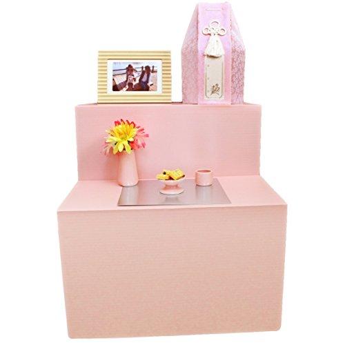 ペット葬儀 ペット祭壇 ミニ祭壇 仏具3点セット ピンク ペット葬 ペット供養 仏具 ろうそく8本入り Cセット