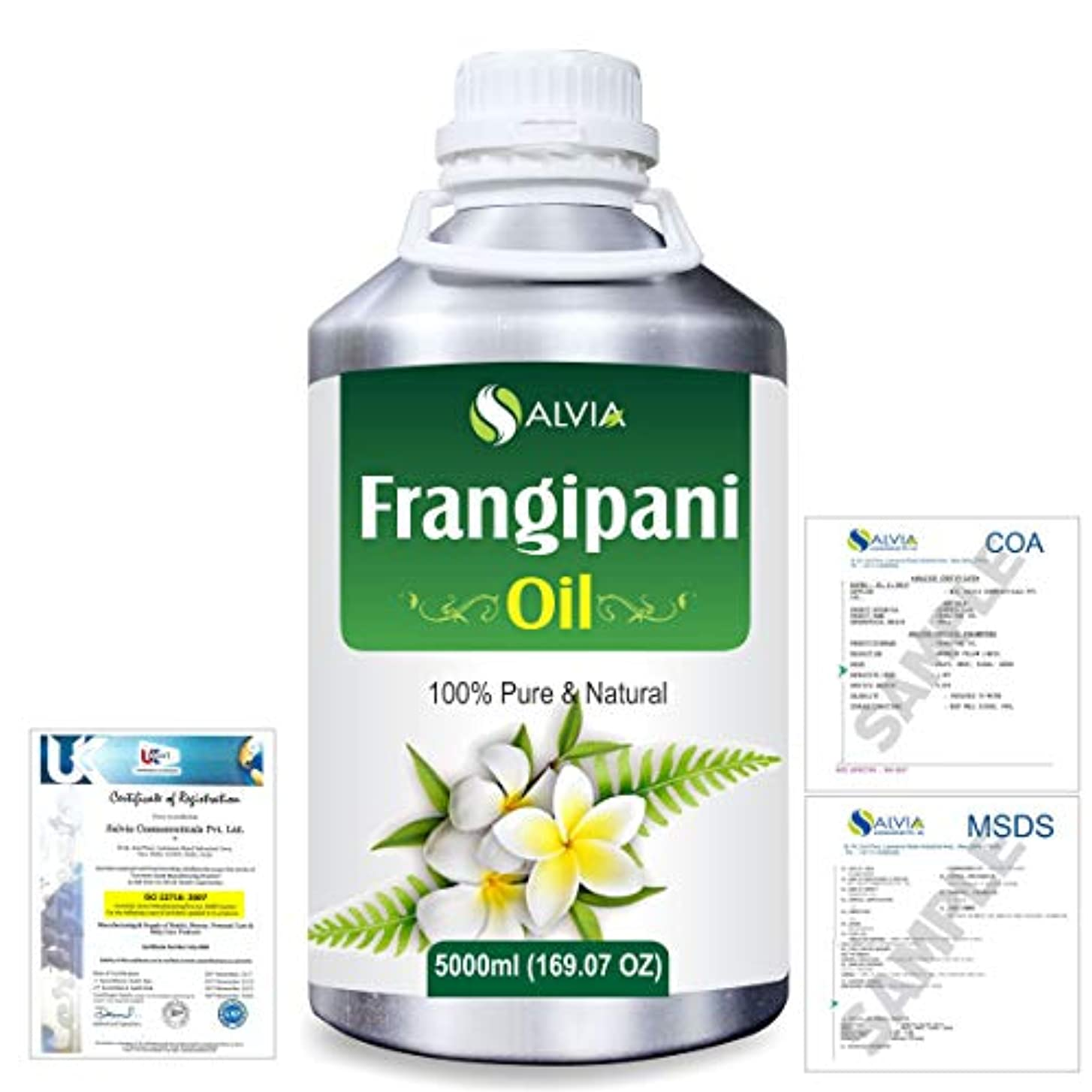 添付兄フラップFrangipani (Plumeria Alba) 100% Natural Pure Essential Oil 5000ml/169fl.oz.