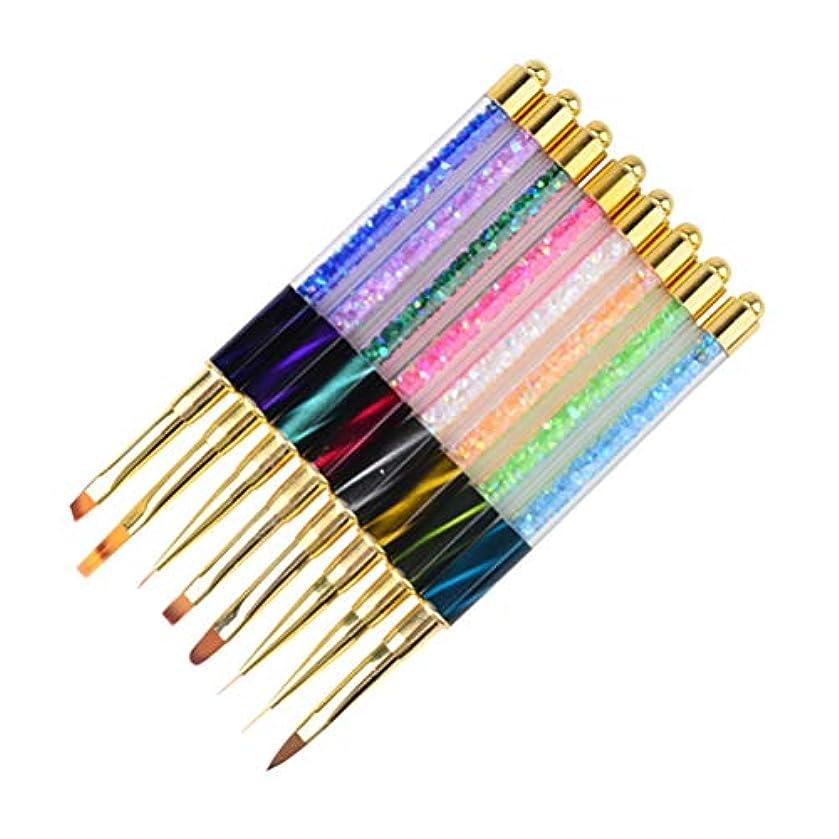 非常に磁器床を掃除するFrcolor ネイル筆 ネールブラシセット ネイルアートブラシ マニキュアツール UV ジェルネイルブラシ 8本セット(ランダム色)