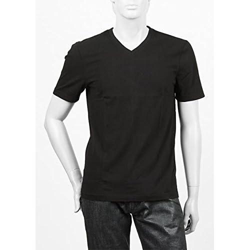 (スリードッツ) three dots VネックTシャツ ブラック bo1v 646 blk Lサイズ [並行輸入品]