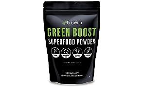 Greens Powder - Super Green Juice - Australian Made & Owned - 12 Natural Raw Organic Ingredients - Health Juice Powder For Detox, Wellbeing, Anti-inflammatory, Energy, Stress Relief - Vegan, Dairy Free, Gluten Free | Best Tasting Green Drink Powder