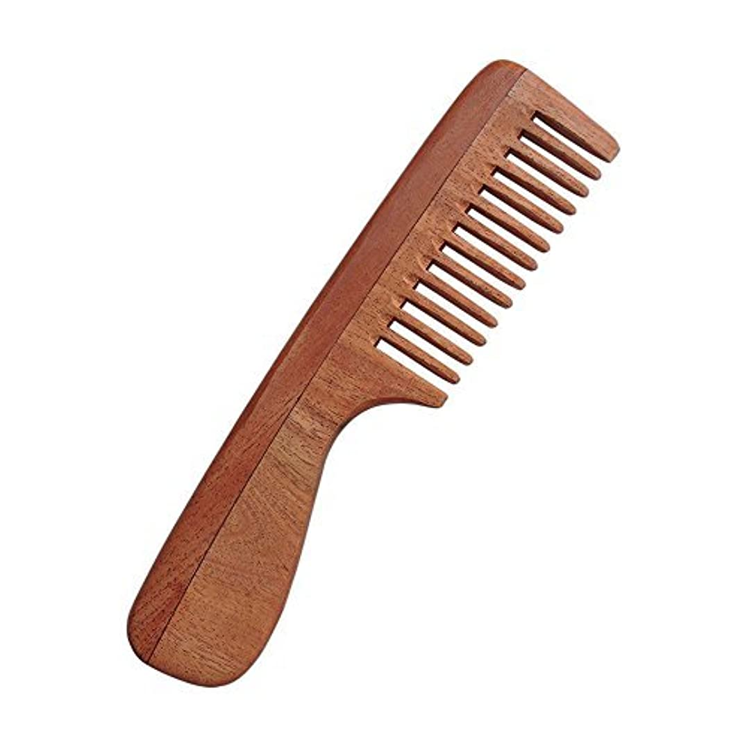 ペインの間に電化するHealthGoodsIn - Pure Neem Wood Wide Tooth Comb with Handle for Thick Hair | Wide Tooth Comb| Comb with Handle...