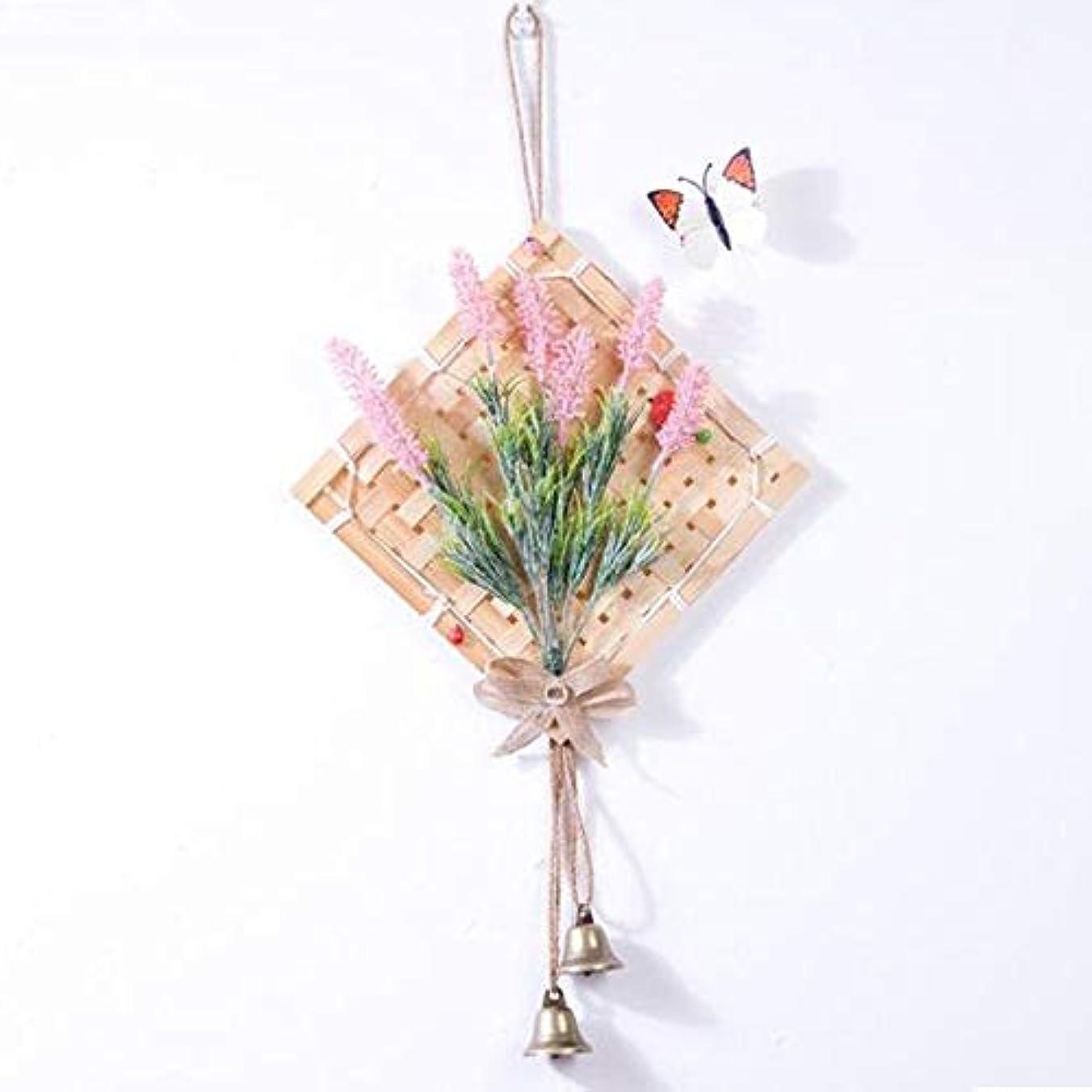 呼び起こすペアプリーツAishanghuayi 風チャイム、クリエイティブ?竹風チャイム、白、幅28.5cmくらい,ファッションオーナメント (Color : Pink)