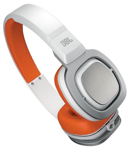 【国内正規品】 JBL High-performance on-ear ヘッドホン J55 ホワイト/オレンジ J55WOR