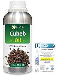 Cubeb (Piper Cubeba) 100% Pure Natural Essential Oil 2000ml/67 fl.oz.