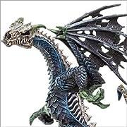 ●アメリカのSafari社が製作した伝説に登場する創造物達のフィギアです。ドラゴンについてトカゲに似た、あるいはヘビに似た強く恐ろしい伝説の生物。鋭い爪と牙を持ち、多くは翼をそなえ空を飛ぶことができ、しばしば口や鼻から炎や毒の息を吐くとされています。 大抵は巨大であるとされ、体色は緑色、真紅、純白、漆黒などさまざまです。