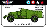アクセサリーズ・グレートブリテン 1/72 ホワイト M3A1 スカウトカー プロフィパック プラモデル AGB72030