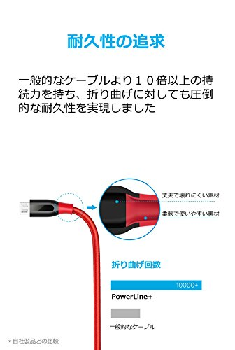 Anker PowerLine+ Micro USBケーブル【2重編込の高耐...