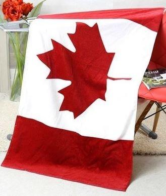 おしゃれ カナダ国旗 デザイン バスタオル コットン タオル 140×70cm