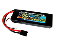 Lectron Pro 7.4V 7600mAh 75C Lipo Battery with Traxxas Connector for 1/10th Scale Cars & Trucks [並行輸入品]