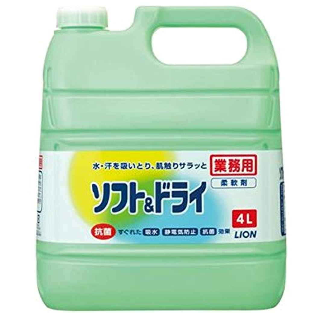 手入れダブルもろい【業務用 大容量】ソフト&ドライ 柔軟剤 4L