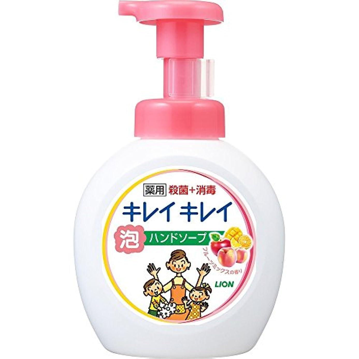 免除ツーリスト基礎キレイキレイ 薬用 泡ハンドソープ フルーツミックスの香り 本体ポンプ 大型サイズ 500ml(医薬部外品)
