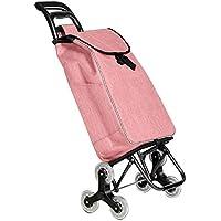 ZB ショッピングカートの折り畳み便利な自転車階段の登山カート老人が車輪を持つカートを購入する ABC (色 : Orange)